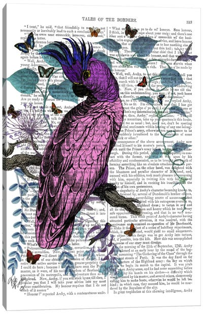 Pink Parrot Canvas Art Print