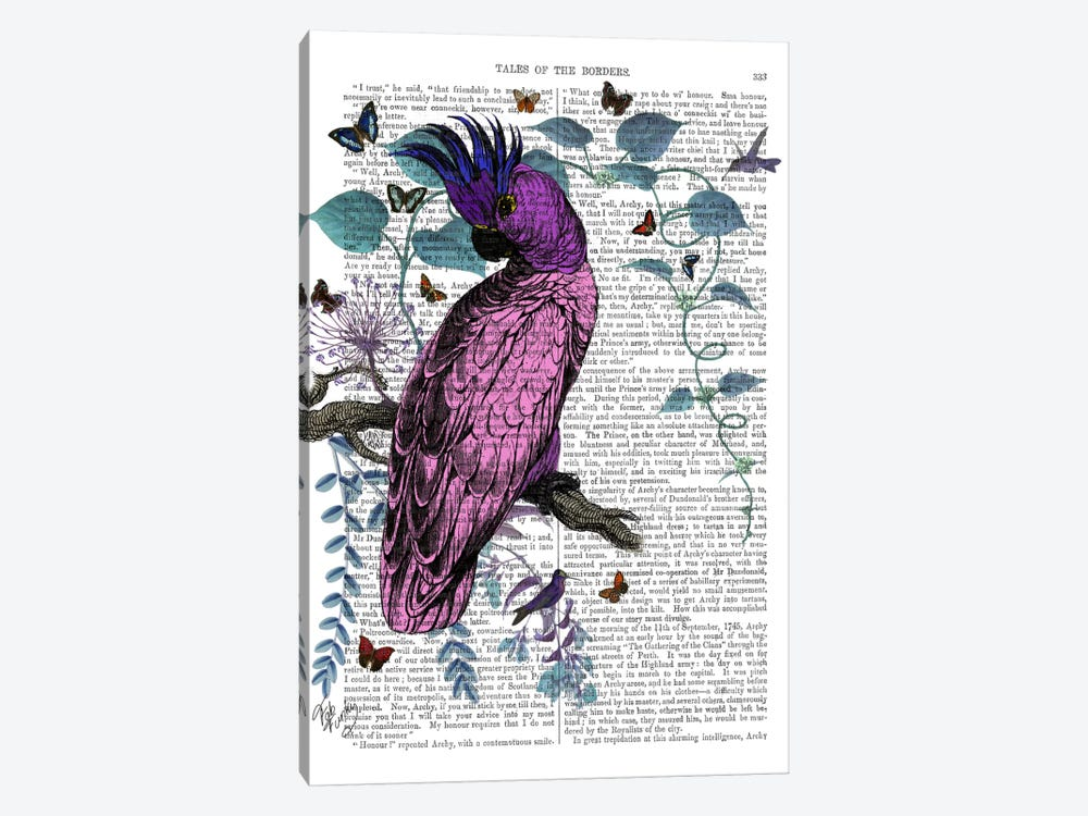 Pink Parrot by Fab Funky 1-piece Canvas Print