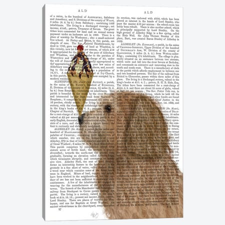 Labradoodle, Golden, Ice Cream, Print BG Canvas Print #FNK703} by Fab Funky Canvas Print