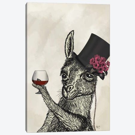Llama Lush II Canvas Print #FNK706} by Fab Funky Canvas Art