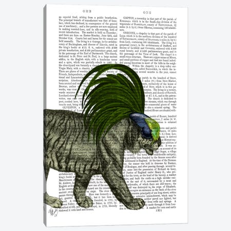 Masked Tiger Canvas Print #FNK715} by Fab Funky Canvas Print