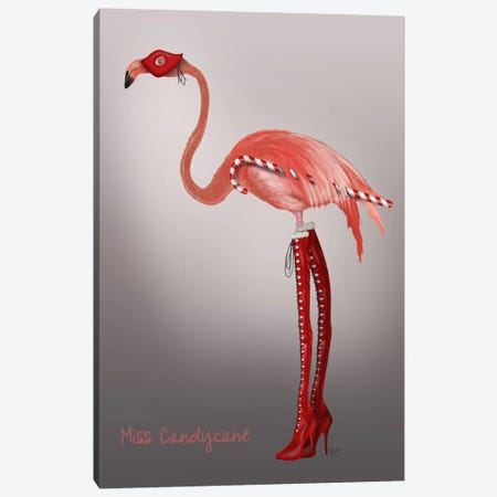 Miss Candy Cane Canvas Print #FNK716} by Fab Funky Canvas Art Print