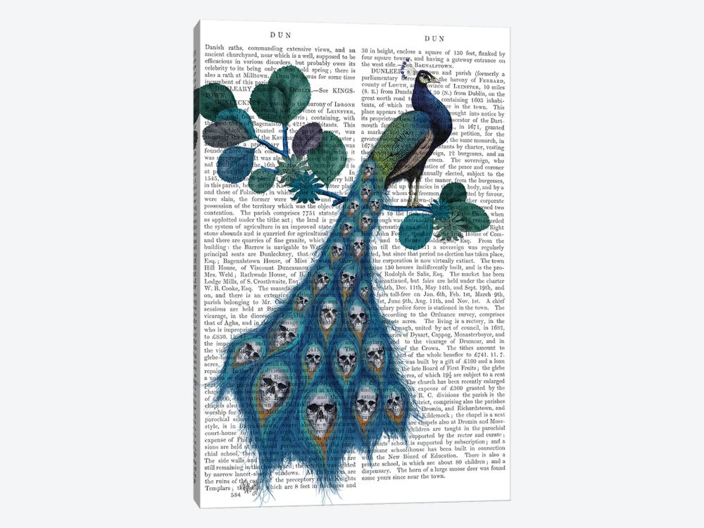 Peacock Soul Gatherer by Fab Funky 1-piece Canvas Artwork