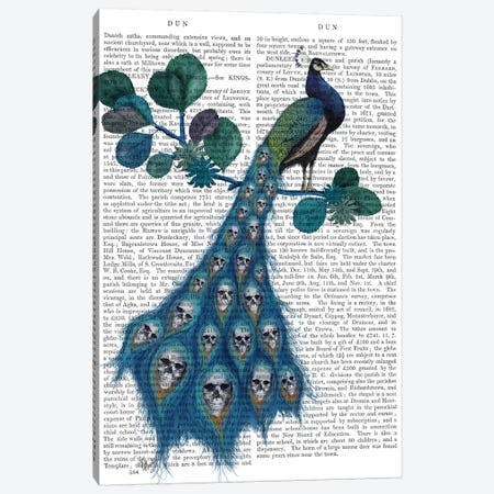 Peacock Soul Gatherer Canvas Print #FNK736} by Fab Funky Canvas Art Print
