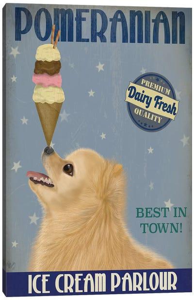 Pomeranian Ice Cream Canvas Art Print