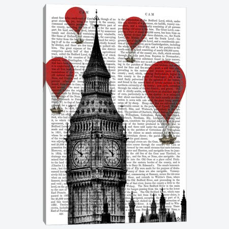 Big Ben Canvas Print #FNK74} by Fab Funky Canvas Art Print