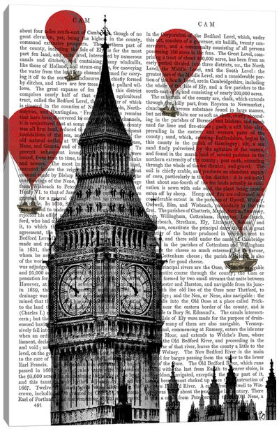 Red Hot Air Balloons Series: Big Ben Canvas Print #FNK74