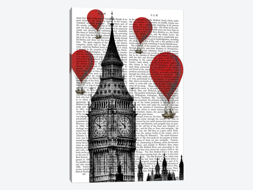 Big Ben by Fab Funky 1-piece Canvas Print