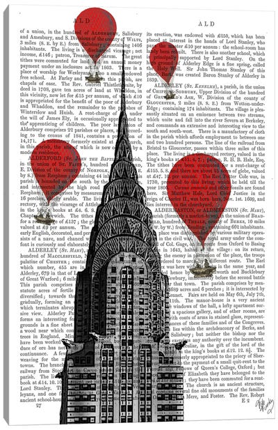 Red Hot Air Balloons Series: Chrysler Building Canvas Print #FNK75