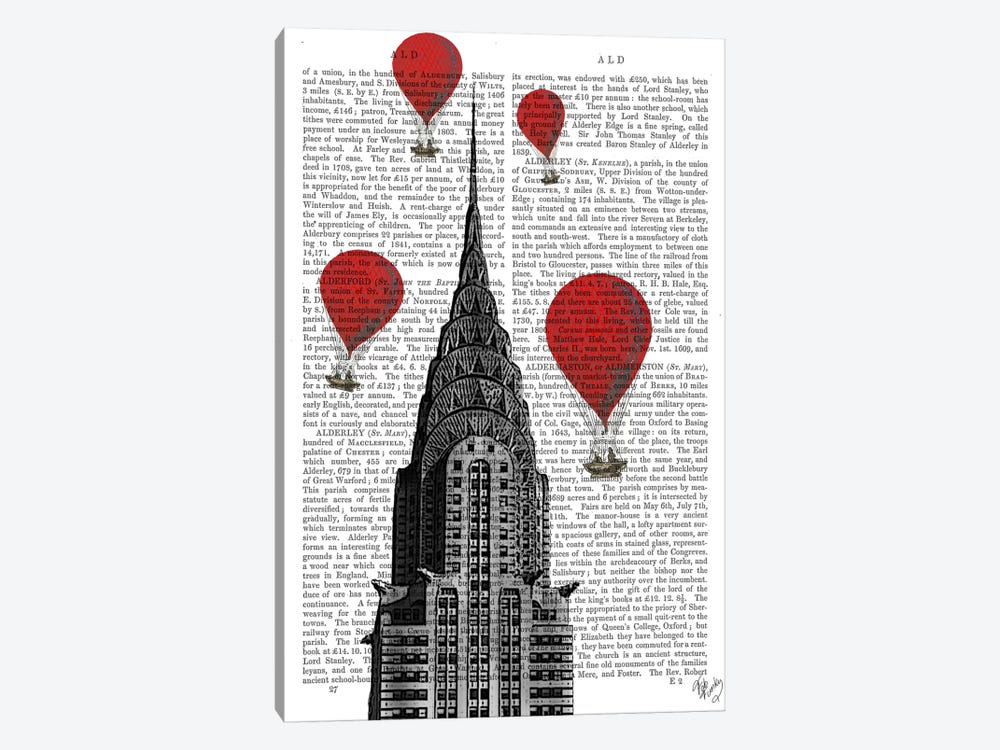 Chrysler Building by Fab Funky 1-piece Canvas Art