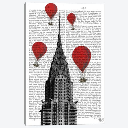 Chrysler Building Canvas Print #FNK75} by Fab Funky Canvas Art Print
