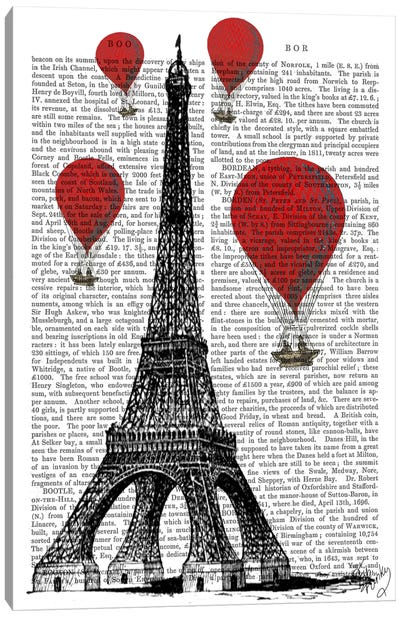 Red Hot Air Balloons Series: Eiffel Tower Canvas Print #FNK76