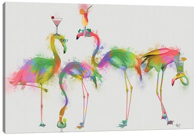 Rainbow Splash Cocktail Party Canvas Art Print