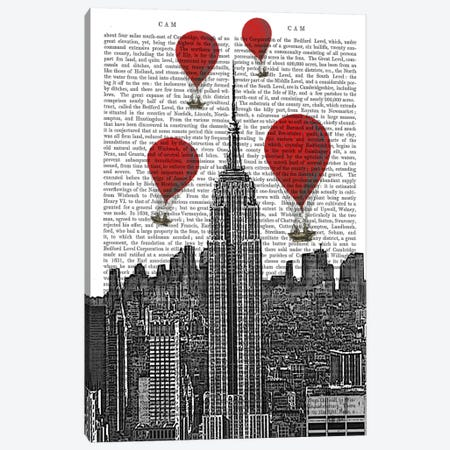 Empire State Building Canvas Print #FNK77} by Fab Funky Canvas Print