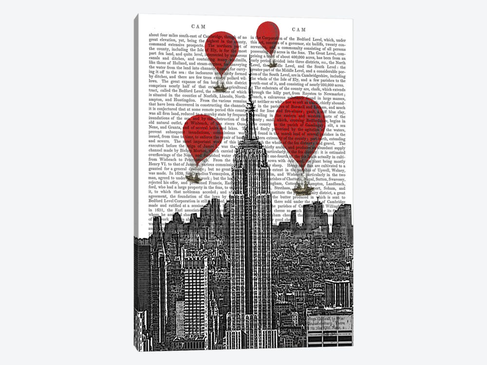 Empire State Building by Fab Funky 1-piece Canvas Wall Art
