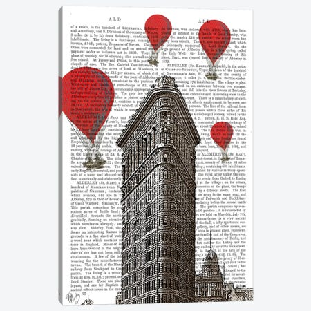 Flat Iron Building Canvas Print #FNK78} by Fab Funky Canvas Art