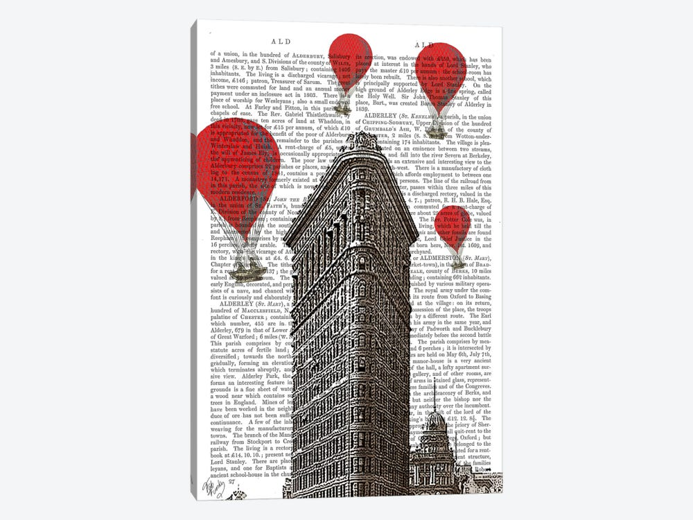Flat Iron Building by Fab Funky 1-piece Canvas Art Print
