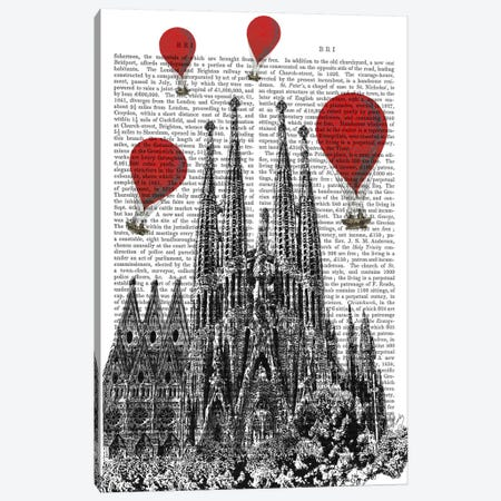 Sagrada Familia 3-Piece Canvas #FNK79} by Fab Funky Canvas Art