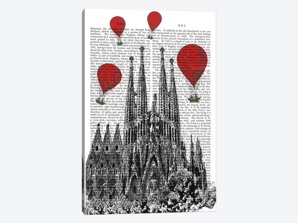 Sagrada Familia by Fab Funky 1-piece Canvas Artwork