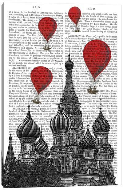 Red Hot Air Balloons Series: St Basil's Cathedral Canvas Print #FNK80
