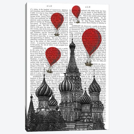 St Basil's Cathedral 3-Piece Canvas #FNK80} by Fab Funky Canvas Art Print