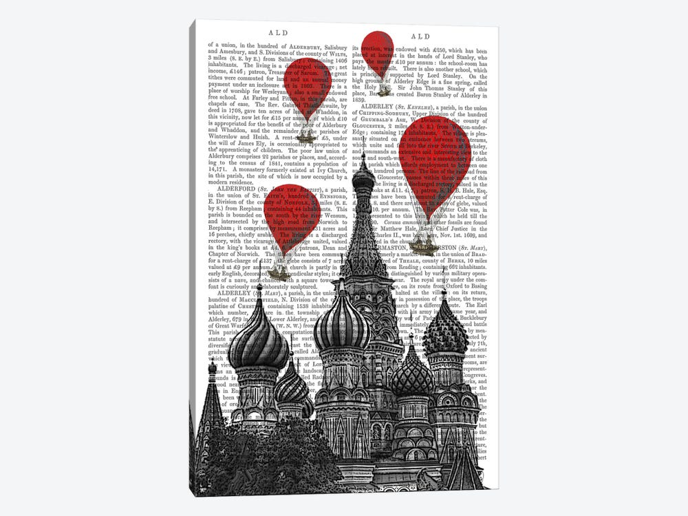 St Basil's Cathedral by Fab Funky 1-piece Canvas Wall Art