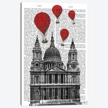 St Paul's Cathedral Canvas Print #FNK81} by Fab Funky Canvas Print