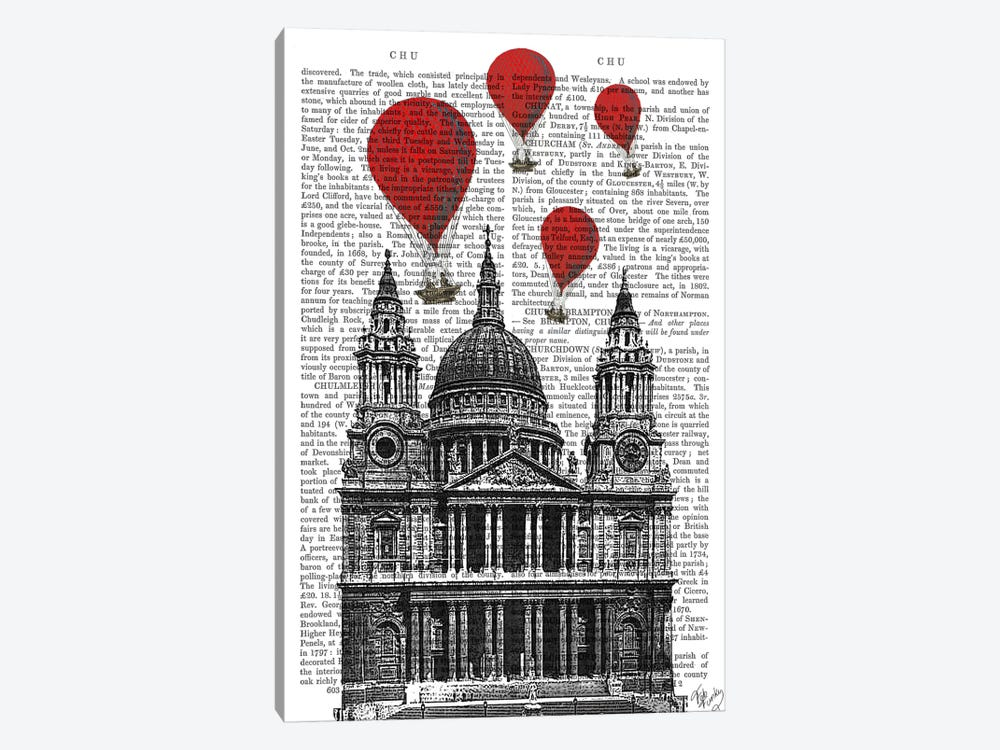 St Paul's Cathedral by Fab Funky 1-piece Canvas Print
