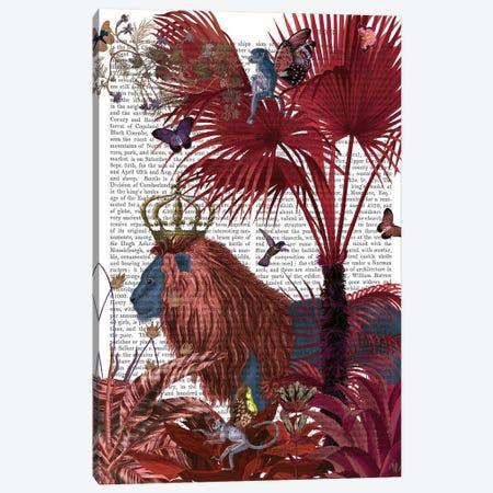 Red Lion, Portrait, Print BG Canvas Print #FNK822} by Fab Funky Canvas Art