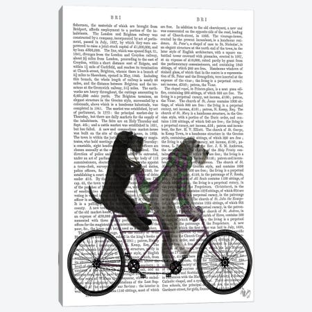 Schnauzer Tandem, Print BG Canvas Print #FNK828} by Fab Funky Canvas Wall Art