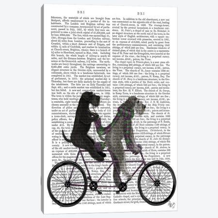 Schnauzer Tandem, Print BG Canvas Print #FNK828} by Fab Funky Canvas Wall Art