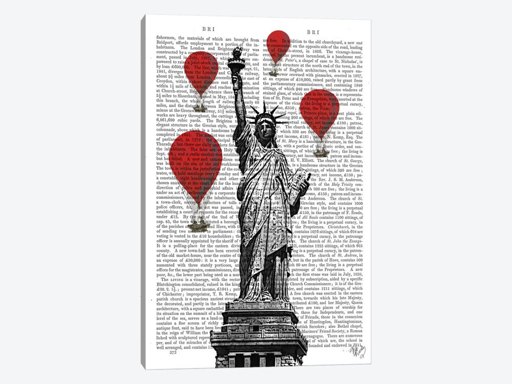 Statue Of Liberty by Fab Funky 1-piece Canvas Art