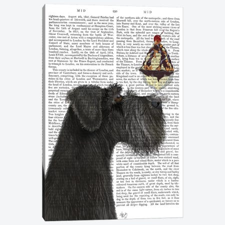 Schnauzer, Black, Ice Cream, Print BG Canvas Print #FNK830} by Fab Funky Canvas Print
