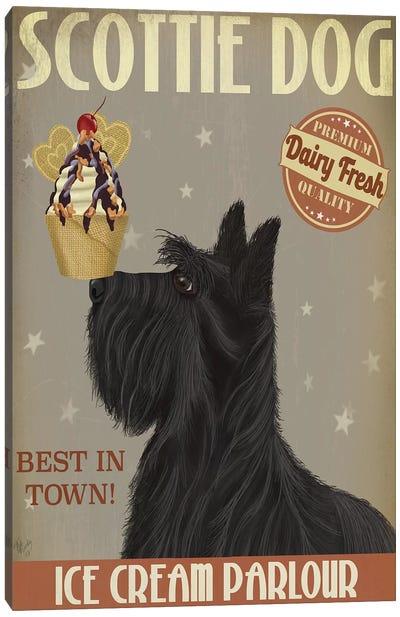 Scottish Terrier Ice Cream Canvas Art Print