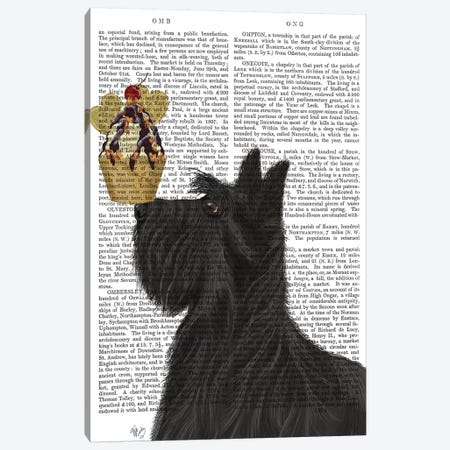 Scottish Terrier Ice Cream, Print BG Canvas Print #FNK834} by Fab Funky Canvas Wall Art