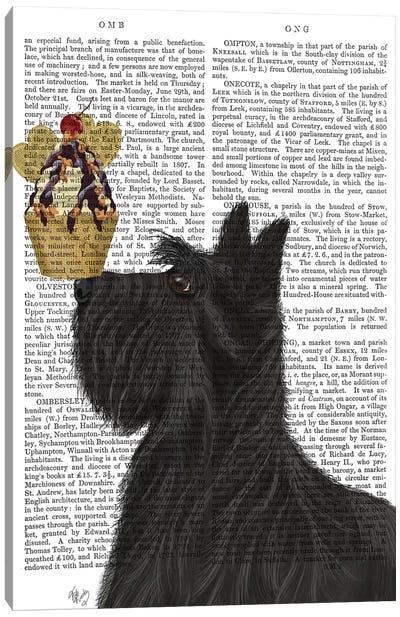 Scottish Terrier Ice Cream, Print BG Canvas Art Print