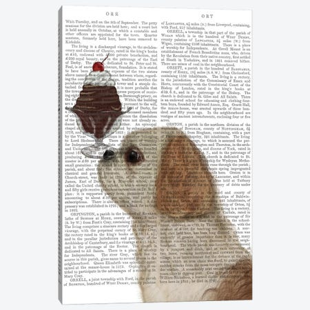 Shih Tzu Ice Cream, Print BG Canvas Print #FNK836} by Fab Funky Canvas Wall Art