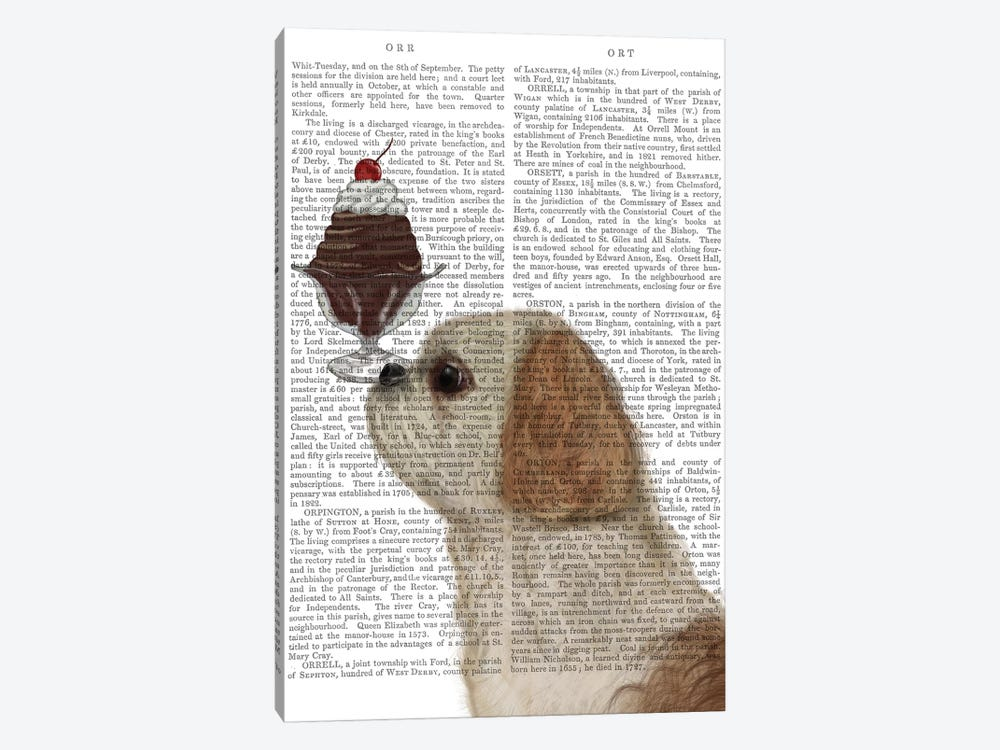 Shih Tzu Ice Cream, Print BG by Fab Funky 1-piece Canvas Artwork