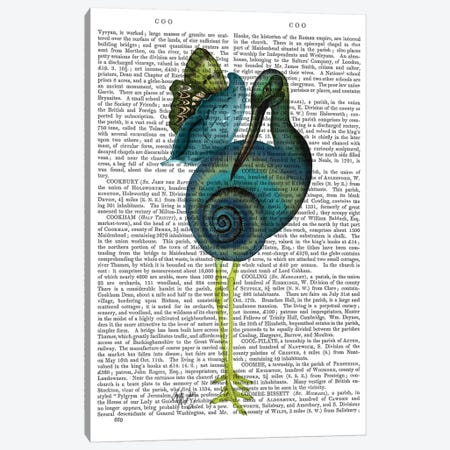 Snail Bird Canvas Print #FNK839} by Fab Funky Canvas Art Print