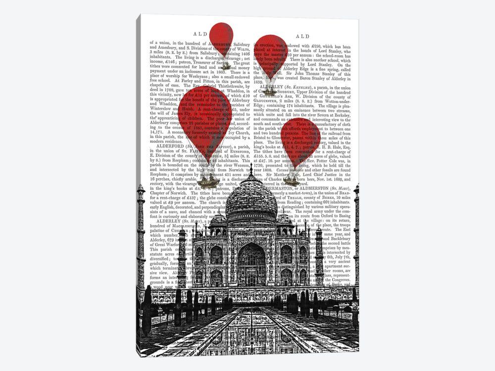 Taj Mahal by Fab Funky 1-piece Canvas Art Print