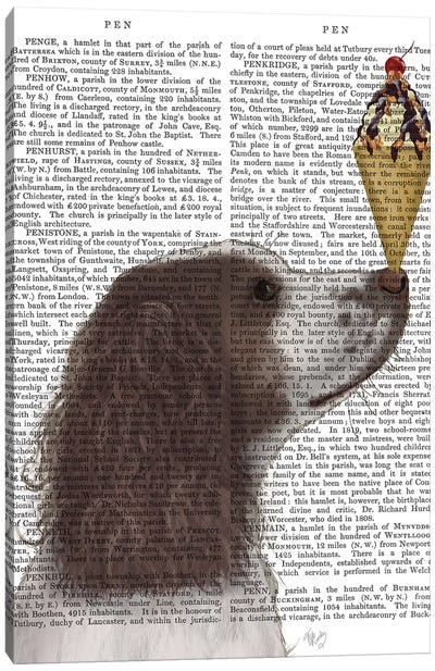 Springer Spaniel, Brown and White, Ice Cream, Print BG Canvas Art Print