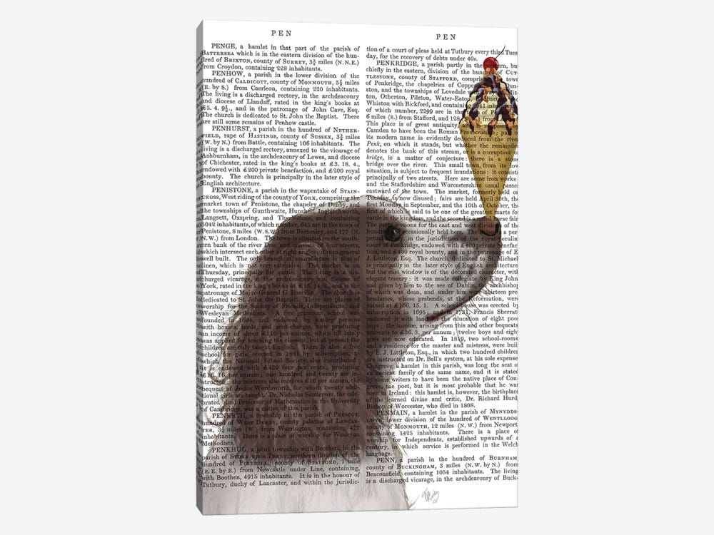 Springer Spaniel, Brown and White, Ice Cream, Print BG by Fab Funky 1-piece Art Print