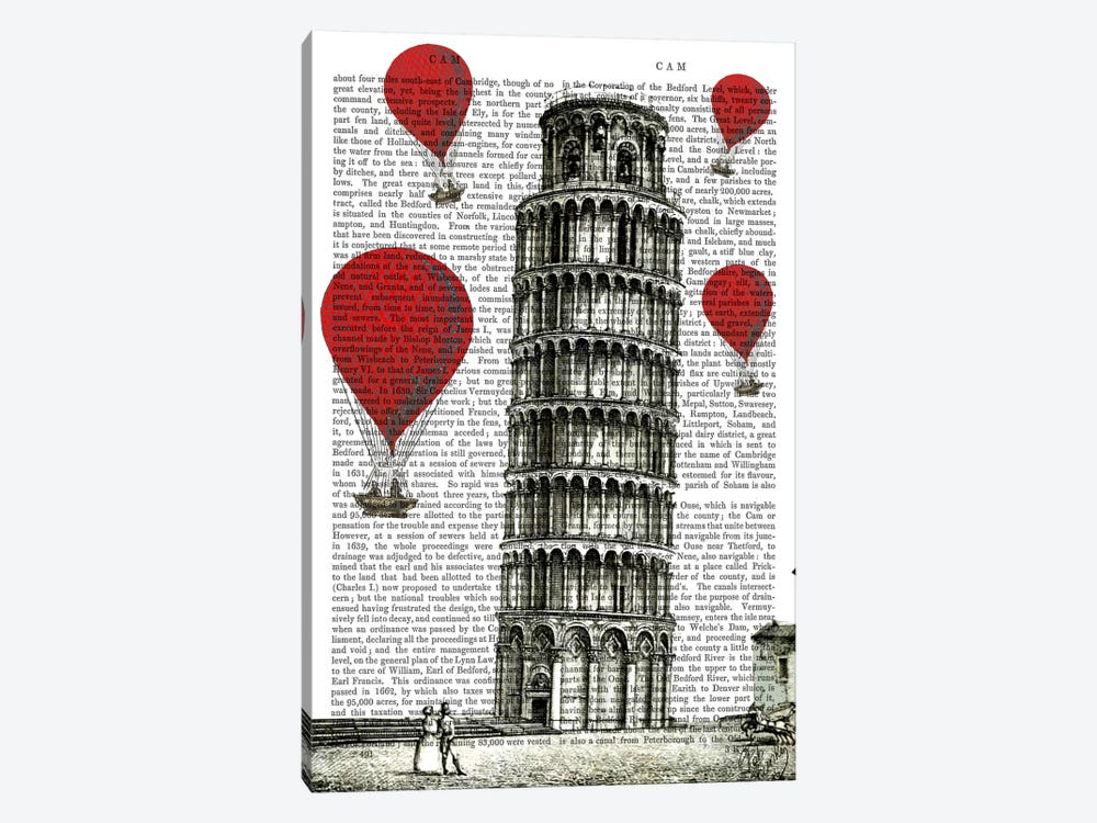 Tower Of Pisa by Fab Funky 1-piece Canvas Art