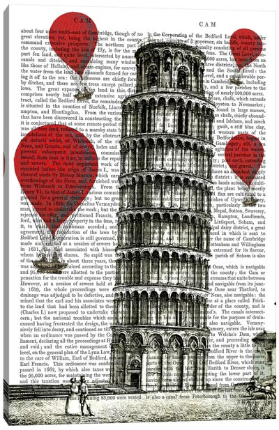 Red Hot Air Balloons Series: Tower Of Pisa Canvas Print #FNK84