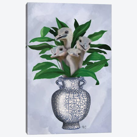 Strange Lilies Canvas Print #FNK854} by Fab Funky Canvas Art