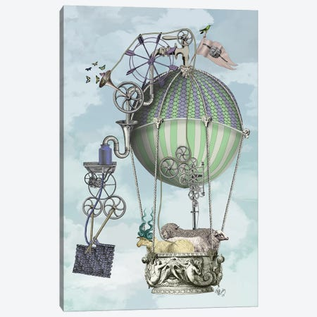 The Knitting Machine Canvas Print #FNK858} by Fab Funky Canvas Print