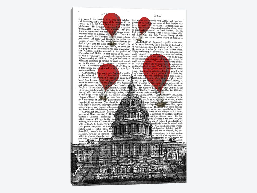 US Capitol Building by Fab Funky 1-piece Canvas Print
