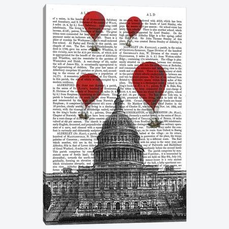US Capitol Building 3-Piece Canvas #FNK85} by Fab Funky Canvas Art