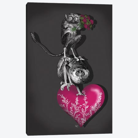 We Brought You Flowers Canvas Print #FNK861} by Fab Funky Canvas Artwork
