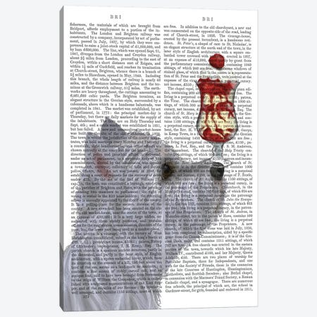 Westie Ice Cream, Print BG Canvas Print #FNK866} by Fab Funky Canvas Print